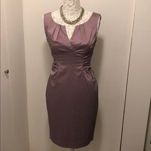 Adrianna Papell Lilac Colored Sheath Dress